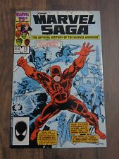 The Marvel Saga #13 (First Printing) 1986 Daredevil, Elektra, Black Widow Origin