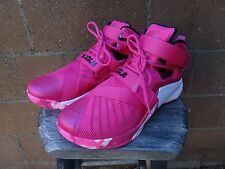 NIKE LeBron Soldier 9 IX Mens Basketball Size 11.5 749417-601 Pink Breast Cancer