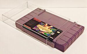 50 SNES Cartridge Protectors  Custom Clear Cases Super Nintendo Video Game Carts