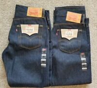 "NWT! (Lot of 2) LEVI'S 501 Original ""Shrink to Fit"" Button-Fly DENIM JEANS 34X30"