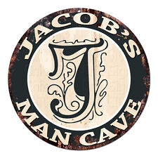 CPMC-0122 JACOB'S MAN CAVE Rustic Chic Tin Sign Man Cave Decor Gift Ideas
