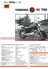 YAMAHA XV 750 XV750 Fiche Technique Moto 000321