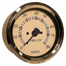 "Vdo 18148003 Allentare White 8000rpm 3-3/8"" [85mm] Outboard Tachometer - 12v"