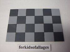 24 Bulk Lego 2X2 FINISHING TILES PLATES Smooth Flat Square Lt &Dk Blu-Grey Floor