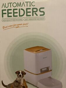 Automatic Pet Cat & Dog Feeder, Digital Food Dispenser Open Box