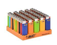 50 Mini Size BIC Lighters Assorted Multi Color Flint Kitchen BBQ Fire Place Aid