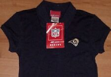 ST LOUIS RAMS BABY DOLL SHIRT LADIES SMALL REEBOK NFL EMBROIDERED LOGOS