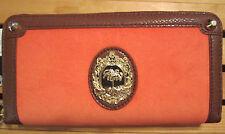 Juicy Couture Wallet Malibu Girl Ciara Orange Velour NEW $78
