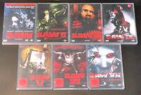 DVD: Sammlung SAW 1-7 (1 + 2 + 3 + 4 + 5 + 6 + 7) / Komplett Deutsch FSK18