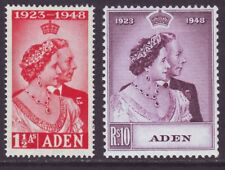 Aden 1948 SC 30-31 MH Set Silver Wedding