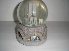 New York City pre-911 musical Snow Globe w/Twin Towers + Macys