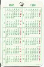 ROLEX Pocket Calendar Calendario календар 1980