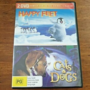 Happy Feet/ Cats and Dogs DVD R4 Like New! – FREE POST