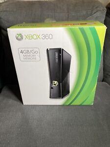 NEW! Microsoft Xbox 360 4GB Slim S System Console Black - BRAND NEW OPEN BOX