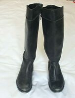 Seychelles Womens Knee High Black Leather Riding Boots Size 7.5
