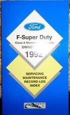 1992 Ford F Super Duty Class A Motorhome Owners Manual Original