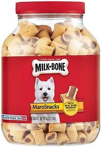Milk-Bone MaroSnacks Dog Treats with Real Bone Marrow and Calcium 40 Oz. Jar