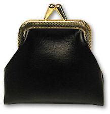 Black COIN PURSE Sponge Ball Magic Trick Pocket Money Metal Goshman Frame Bag