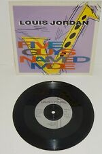 "LOUIS JORDON FIVE GUYS NAMED MOE 1991 MCA UK 7"" 1st PRESS with card P/S"