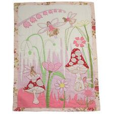 100% Cotton Hand Stitched Bed Quilt - Single(150x225cms) - Powell Craft -Fairies