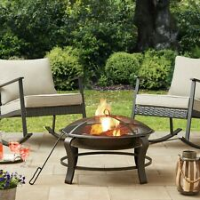 New listing Mainstays Owen Park 28 inch Round Wood Burning Fire Pit