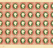 More details for heligoland qv stamps sg.10 1pf (ii) p13½+14½ (1875) mint sheet c£1,000+* ep184