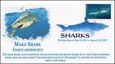 17-186, 2017, Sharks, Mako Shark, Digital Color Postmark, FDC