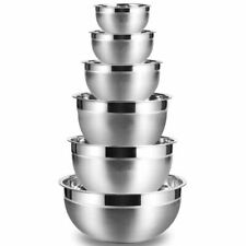 Stainless Steel Mixing Bowl Set Fruit Salad Storage Bowls Home Kitchen Cookware