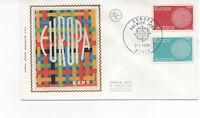 FRANCE 1970 FDC EUROPA YT 1637 ET 1638