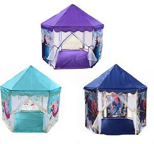 Large Baby Kids Hexagon Play Tent Spiderman Frozen Peppa Pig Outdoor Indoor 1.2m
