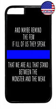 Police Force Cops Blue Line Rubber Case Cover iPhone 11 Pro Max Xs XR 8 Plus 7