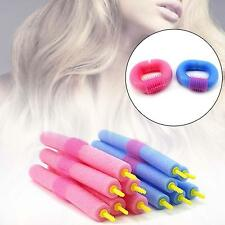12Pcs Soft Foam Curlers Makers Bendy Twist Curls Tool DIY Styling Hair Roller OE