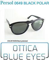 Occhiali da Sole Persol PE 0649 649 95/58 BLACK Polarized McQueen Sunglasses