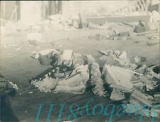 Original WW2 Photo Operation Bodyguard Soldier In Urban Camouflage in rubble