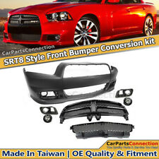Charger 2011-2014 SRT8 Style Front Bumper Fog Light Grille W/O ADAPTIVE CONTROL