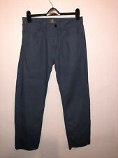 """Timberland Homme Coupe Droite Bleu Chinos Taille UK W32"""" X L31"""" EC 1669"""