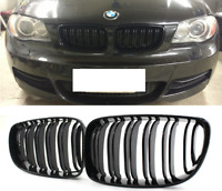 BMW 1 series E87 E81 E82 E88 Gloss black double spoke kidney grille grilles UK.