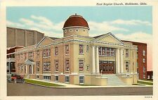 1915-30 Print Postcard; First Baptist Church McAlester OK Pittsburg Co Unposted