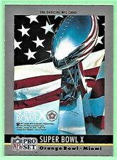 1990 Pro Set Football SUPER BOWL X card #10 Steelers 21, Cowboys 17 NM.