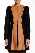 New Alice + Olivia Cohen Flared Wool Blend Military Jacket XS