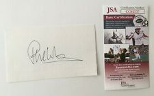 Phil Collins Signed Autographed 3x5 Card JSA Certified