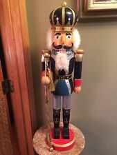 """Large 29"""" Wooden Nutcracker Village 1999 special edition 10th anniversary tags"""