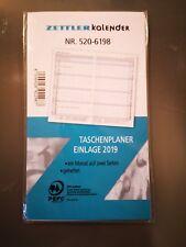 2019 Zettler Taschenplaner Einlage 520-6198 Kalender 1 M / 2 S geheftet
