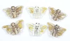 6 Handmade Lampwork Glass Beads Butterfly Jewelry Butterflies Novelty Bead Lot
