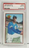 1989 Bowman #220 Ken Griffey Jr. Seattle Mariners HOF RC Rookie MINT PSA 9
