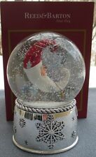 REED & BARTON Winter Dreams Santa Musical Snowglobe Snow Globe Snowdome NIB