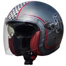 Casco Helmet Jet Premier Vangarde FL chromed Old Style S