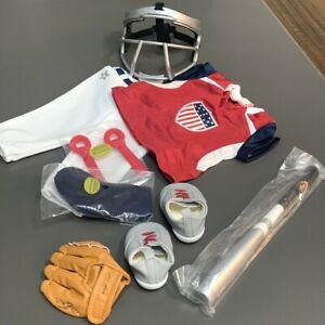 "Baseball bat and helmet Accessory For American Girl 18"" Doll OG xmas gifts"