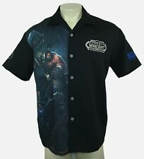 WORLD OF WARCRAFT D20 Mens Warlords of Draenor Blizzard Employee Bowling Shirt M