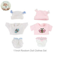 10-11inch Reborn Doll Clothes Set DIY Baby Boy Girl Doll Outfit Hat(NO DOLL)